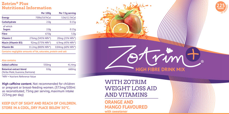 Zotrim weight loss aid and vitamins