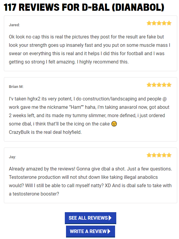 Dianabol reviews and rating
