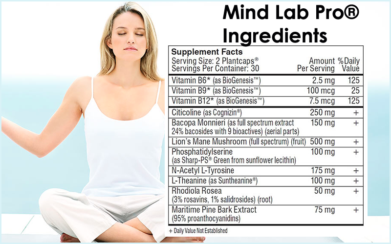 Mind Lab Pro - Ingredients 11 research-backed nootropics