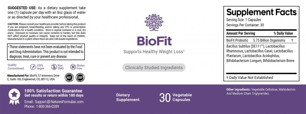 BioFit ingredients